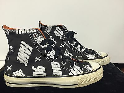 David Bowie Fame 90 US Promo-Only Converse All-Star BaseBall Boots Shoes Sz 5