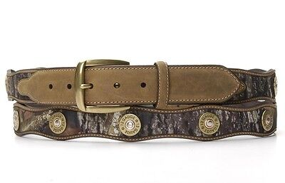 Camo /& Leather ~MOSSY OAK~ Youth WESTERN BELT Cowboy Kid Hunter NOCONA N44192