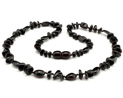 Amber Necklace Adult Unisex Cherry approx 45cm Mix Polished Beads Genuine Baltic