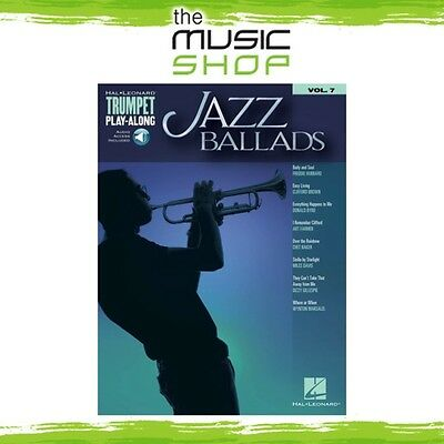 New Jazz Ballads Trumpet Play Along Music Book & OLA - Volume 7