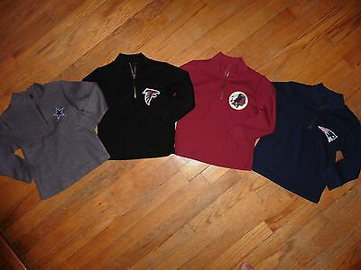 NFL Toddler Boys Quarter Zip Shirt Top Sweater Cotton ORIGINAL custom made NEW