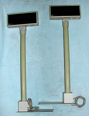 "Pair of Logic Controls ""Heads Up"" Digital Display Pole Point of Sales #PD3000-BG"