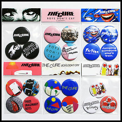 The Cure - Post-Punk Button Badge Pack Complete Listing of All Packs 10% OFF RRP