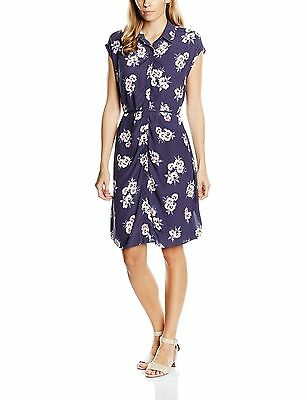 New Look Maternity Women's Audrey Dress Purple (Floral Printed) 14 New