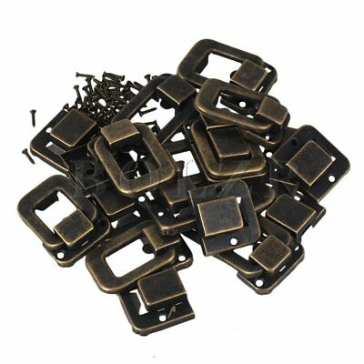10PCS Bronze Vintage Lock Hook Latch  DIY for Antique Jewelry Box with Screws