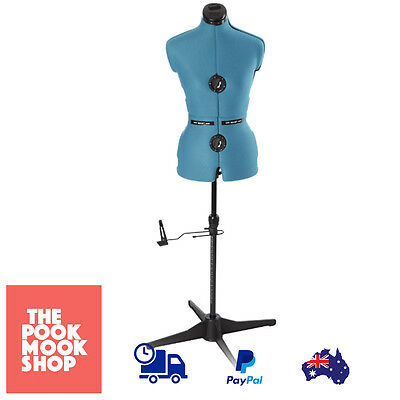 Blue Dressmaker Model Peacock Mannequin Sewing Pin Cushion Adjustable, Auto, New