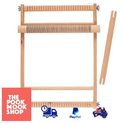Weaving Loom Natural Small Large Wooden Crafts Sturdy Weave Wood Looms Table New
