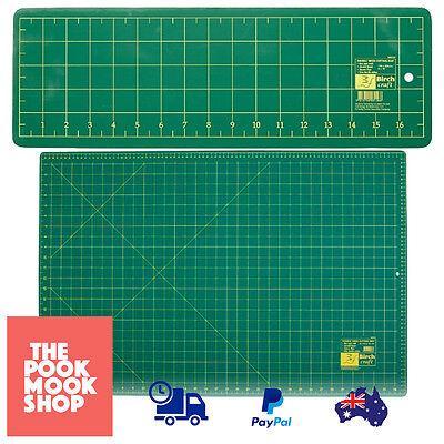 Double Sided Cutting Mat Green Crafts Fabric Quilting Tools Grids Rotary Sewing,
