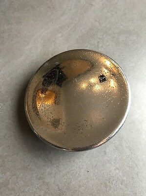 "Large 3 1/2"" Ceandess Chrome And Brass Petrol Fuel Tank Cap"