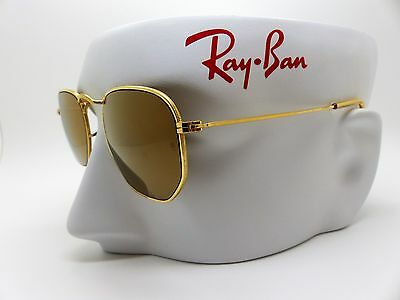 Vintage B&L Ray-Ban W1910 Diamond Hard Gold Mirror Sunglasses *New With Defects*