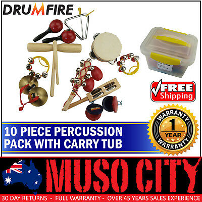 New Drumfire 10-Piece Hand Percussion Set
