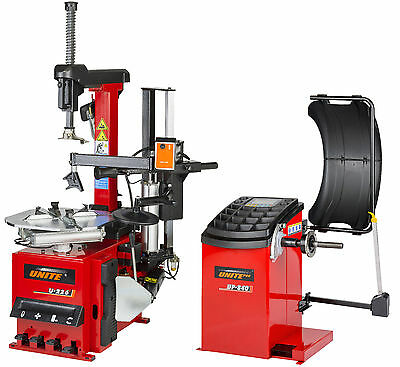 Tyre Equipment Package Fully Automatic Tyre Changer / Fully Auto Wheel Balancer