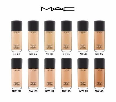 MAC Studio Fix Foundation Fluid SPF15 ALL SHADES 30ml + Free Pump
