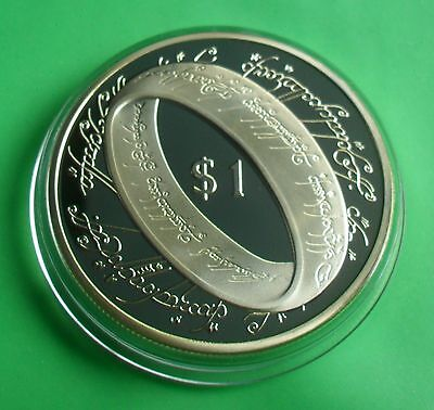 New Zealand $1 2003 999 Fine Gold Plate Lord Of The Rings Coin