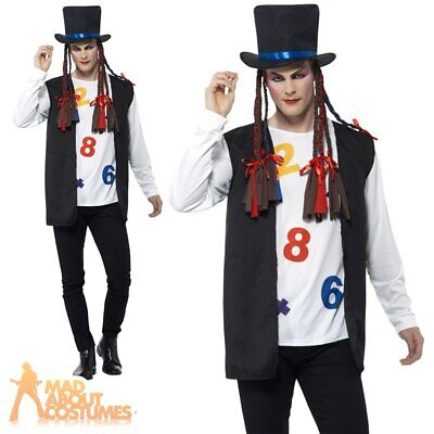BOY GEORGE Costume 80 S Chameleon Pop Star Culture Club Hommes Fancy Dress Outfit