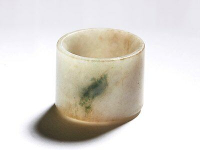 Antique Chinese, Possibly Ming Jade Archers Ring