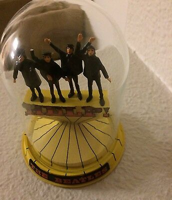 The Beatles Help  Musical Glass Dome Franklin Mint John Paul Ringo George