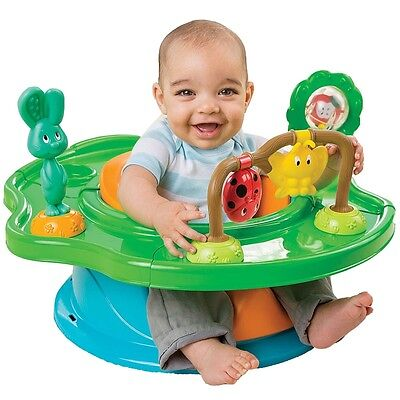 Summer Infant 3 Stage Super Seat Forest Friends, Baby Seat with Activity Tray