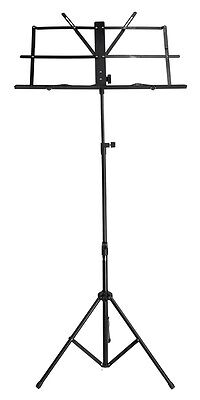 New SoundArt Steel Traditional Folding Music Stand Adjustable (Black)