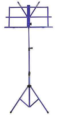New SoundArt Steel Traditional Folding Music Stand Adjustable (Blue)