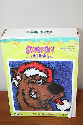 "Caron Latch Hook Kit Scooby-Doo Santa Quick Fun Easy 13"" by 13"" Warner Bros."