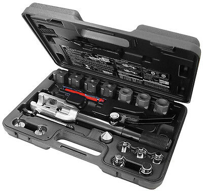 Mastercool HVAC Hydraulic Imperial Flaring And Swaging Tool Kit 71700