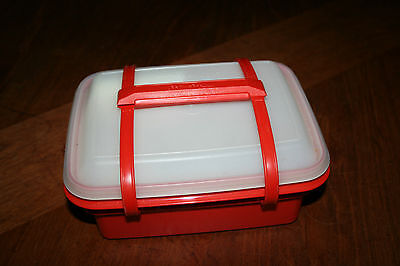Tupperware Lunch Box with Sandwich Keeper plus Cup with Lid plus Snack Container