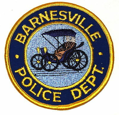 BARNESVILLE GEORGIA GA   Police Sheriff Patch ANTIQUE FORD  HORSELESS BUGGY ~