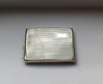 Vintage sterling silver small card cigarette case, Chester 1930
