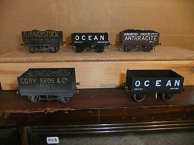 5 Kit Built EM gauge Private owner goods wagons, not boxed