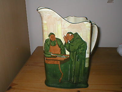 Royal Doulton Series Ware Monks In The Cellar Jug Signed Noke Dated 1906