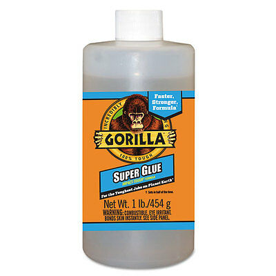 Gorilla Glue Instant Bond Superglue, 1 lb Bottle, Clear