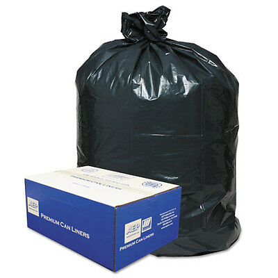 Classic 2-Ply Low-Density Can Liners, 40-45gal, .63 Mil, 40 x 46, Black,...