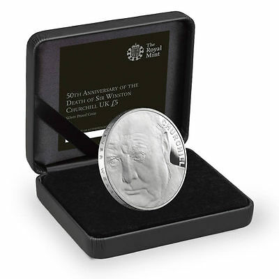 The Royal Mint Winston Churchill 2015 £5 Silver Proof Coin - UK15WCSP