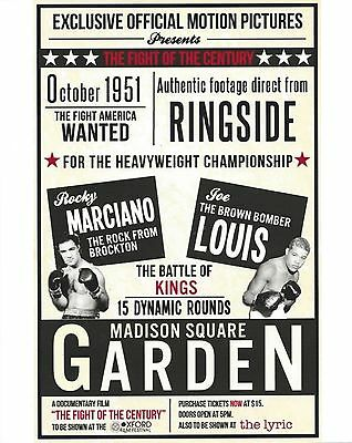 ROCKY MARCIANO vs JOE LOUIS  8X10 PHOTO BOXING POSTER PICTURE