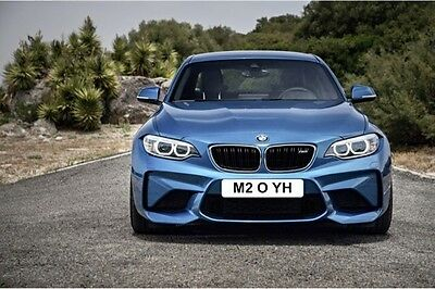 Bmw M2 Private Registration Plate M2 O Yh Reads M2 Oh Yeah Cherished Reg