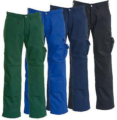 Tranemo 2820 50 Mens Trousers Knee Pads Pockets Cargo Pants Polycotton Workwear