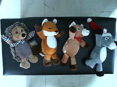 Kinder Surprise lot of 4X different plushes stuffed animals