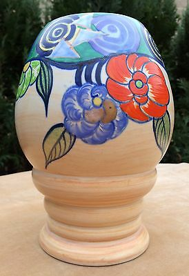 Beautiful Wilkinson 362 Vase Tahiti Pattern and Design signed by L. Allen
