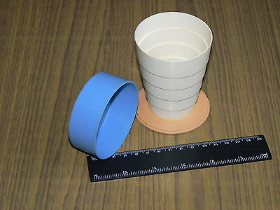Vintage Soviet Russian USSR Plastic Folding Mug Cup for Travel Camping