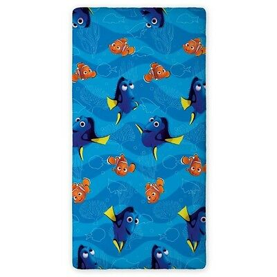 Disney FINDING DORY Fish  SINGLE FITTED SHEET 90cm x 200cm 100% COTTON