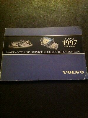 1997 Volvo Warranty And Service Record Booklet