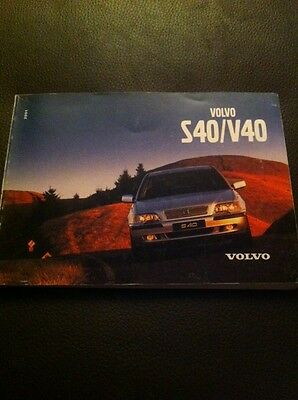 2001 Volvo S40 V40 Owners Manual