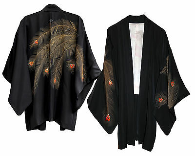 Alicia Keys Worn Silk Kimono, With Stunning Peacock