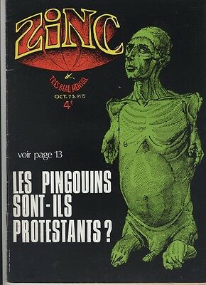 (137) Rare Journal Zinc N°15 de octobre 1973