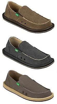 Sanuk Vagabond Men's Canvas Sidewalk Surfer Slip-on Shoes 8 9 10 11 12 13 14 15