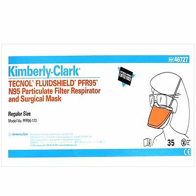 Kimberly-Clark PFR95-170, Particulate Filter Respirator and Surgical Mask, 35 ct