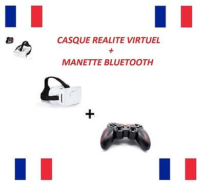 Casque Realite Virtuel Vr Reality Virtual + Manette Bluetooth Neuf Port Gratuit
