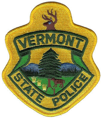 "Vermont State Police Shoulder Patch - 4 1/4"" tall by 3 3/4"" wide - NEW"