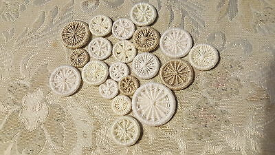 Traditional Hand made Dorset Buttons (wire/thread buttons)